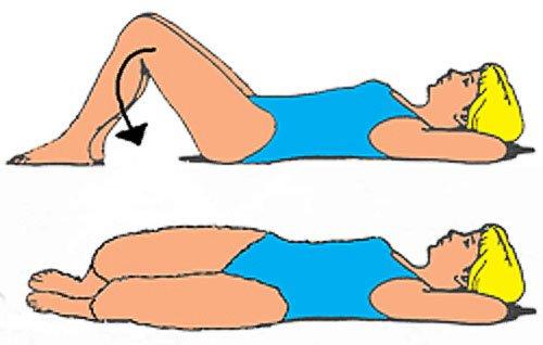 упражнение: поворот коленей вправо-влево из положения лежа
