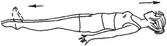 схематическое изображение упражнения с вытягиванием носков
