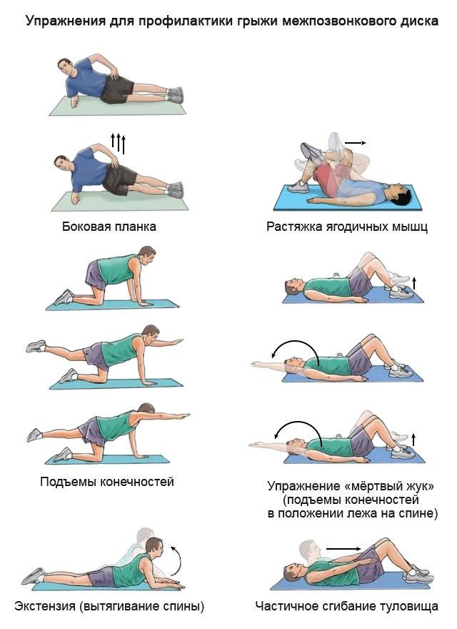 упражнения при позвоночной грыже